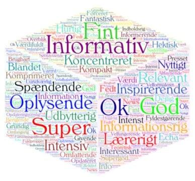 Ordsky med mange ord og farver